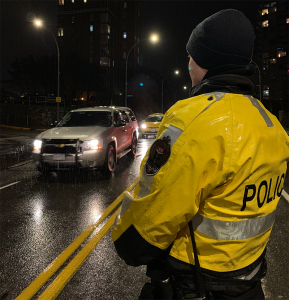 VicPD Traffic officer on the lookout for impaired drivers during the 2019 holiday season